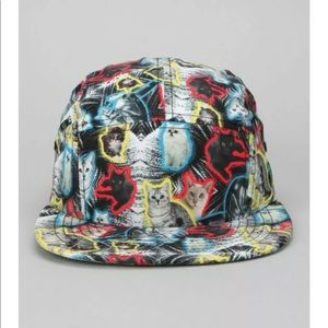 Urban Outfitters UO Lazer Cats All Over Print Hat